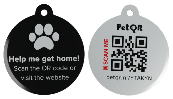 Smart Pet QR-tag Black